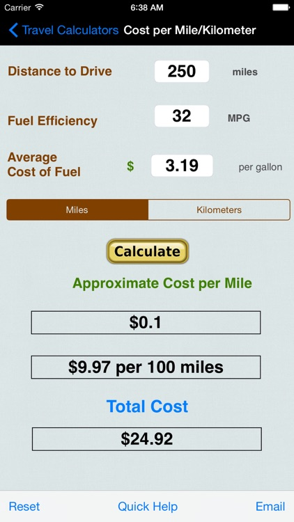 Automobile Trip Calculators & Converters screenshot-3