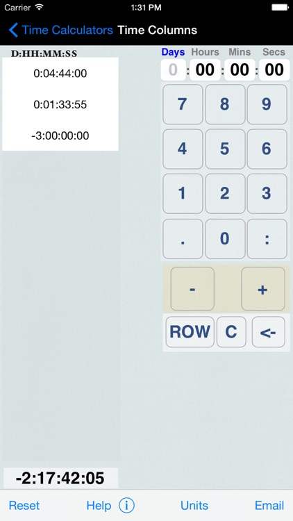 Hours, Minutes & Seconds Calculator with Date Diff screenshot-3