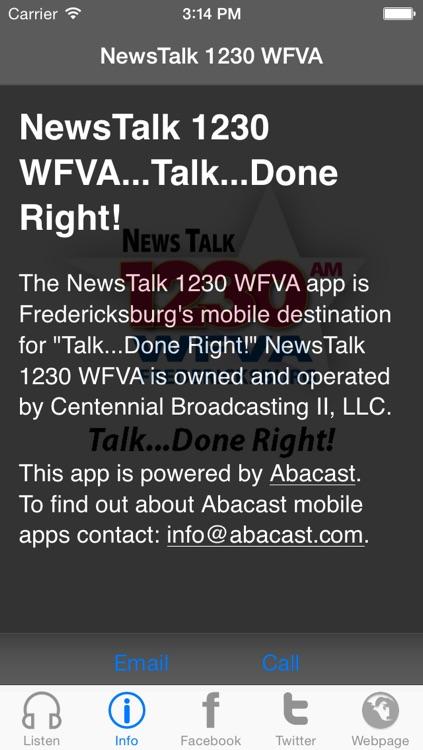 NewsTalk 1230 WFVA...Talk...Done Right!
