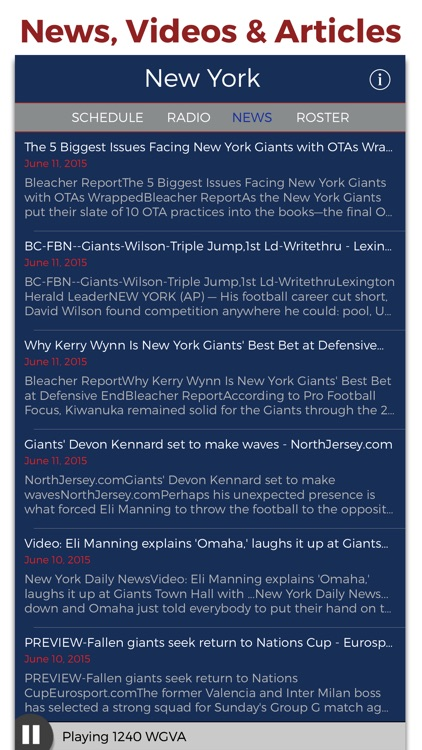 New York Football Radio & Live Scores screenshot-4