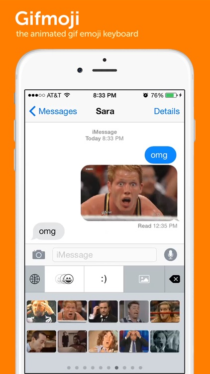 Gifmoji - emoji animated gif keyboard