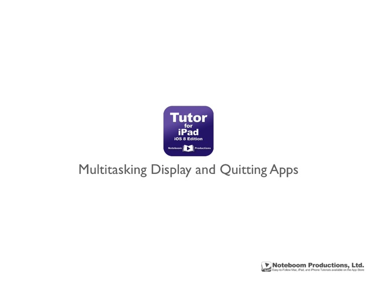 Tutor for iPad: iOS 8 Edition screenshot-3