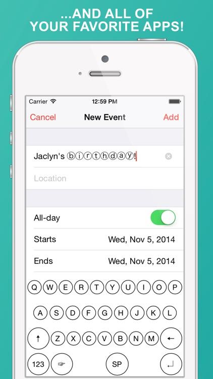 BubbleText Keyboard: Message & Type in Bubbles screenshot-3