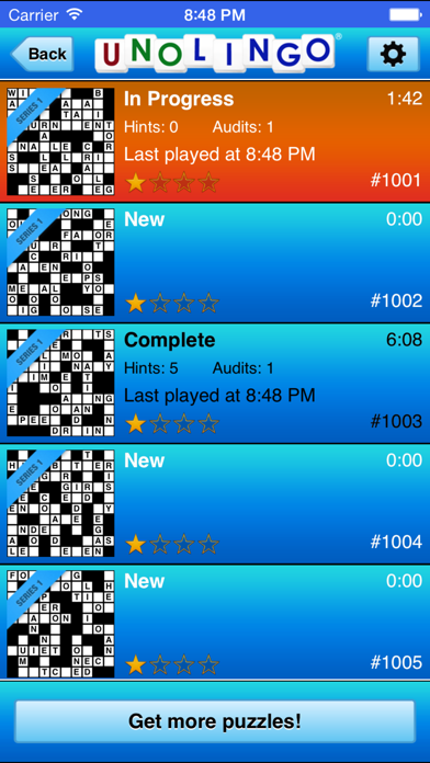 Unolingo: Crosswords Without Clues screenshot two