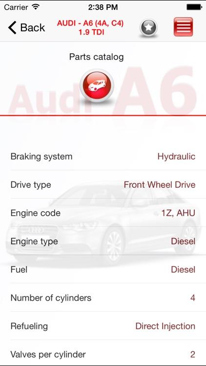 AutoParts  Audi A6 screenshot-4