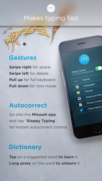 Minuum - The Little Keyboard for Big Fingers: Now with Smart Emoji screenshot-4