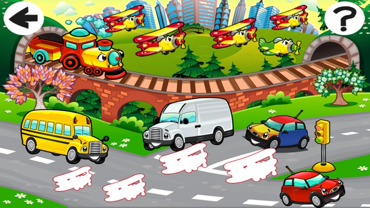 A Sort By Size Game of Cars and Vehicles for Children screenshot-3