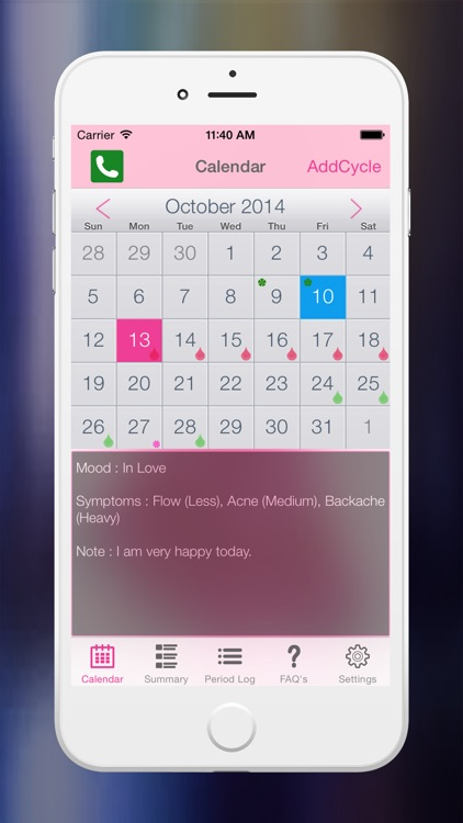 Period Tracker Logs  (Fertility & Period Calendar and Ovulation tracker) screenshot-1