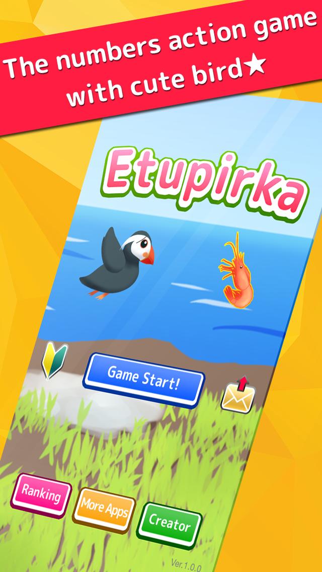 Etupirka - puffin bird numbers action