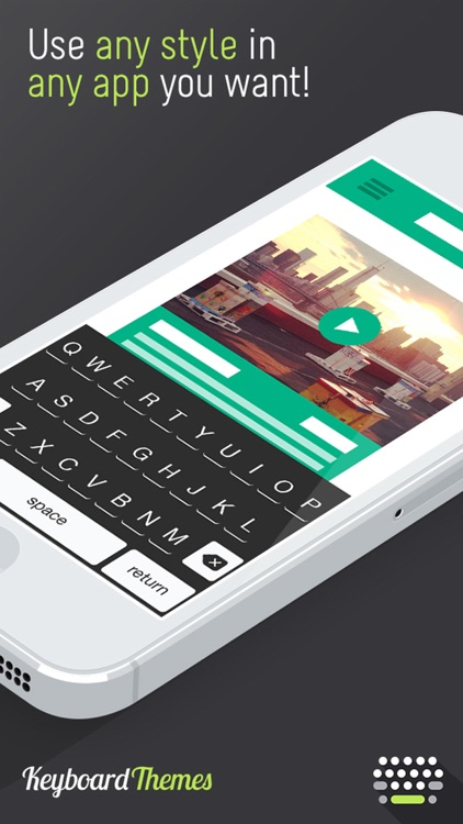 Keyboard Themes - Custom Color Keyboards & Font Style for iPhone & iPad (iOS 8 Edition) screenshot-3
