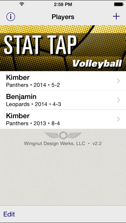 Stat Tap Volleyball