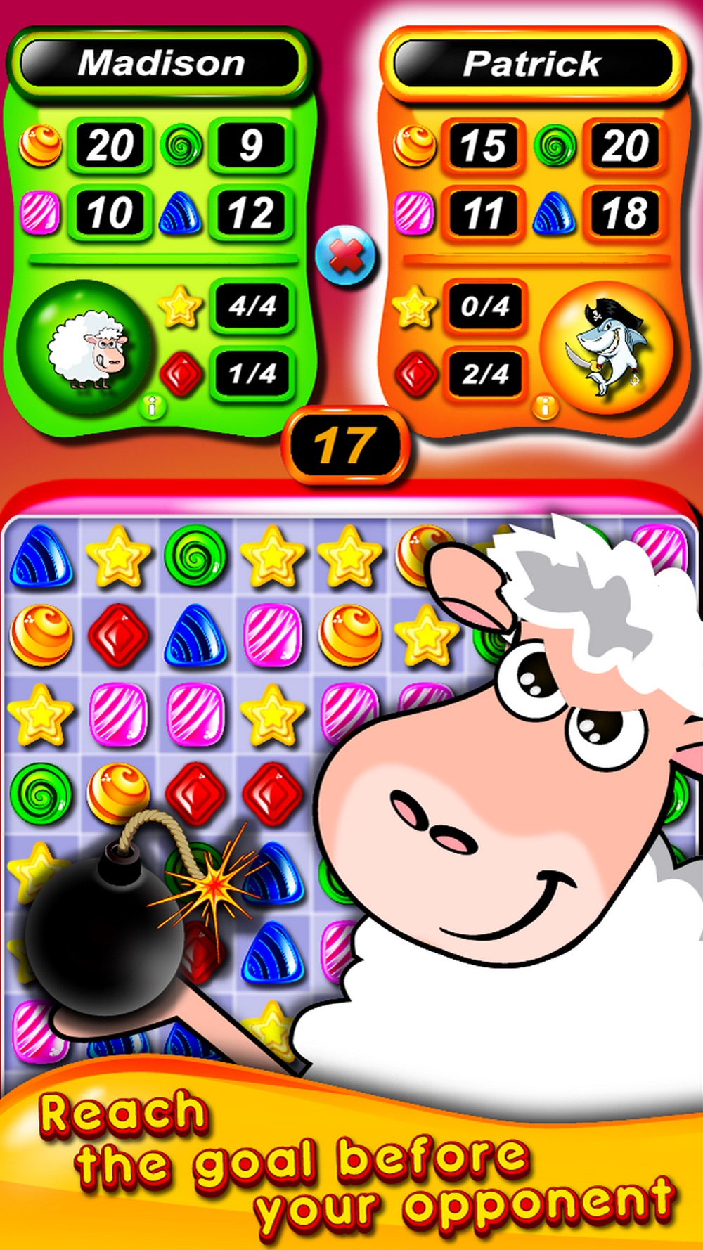 Jolly Duels – Multiplayer match three game Cheat Codes