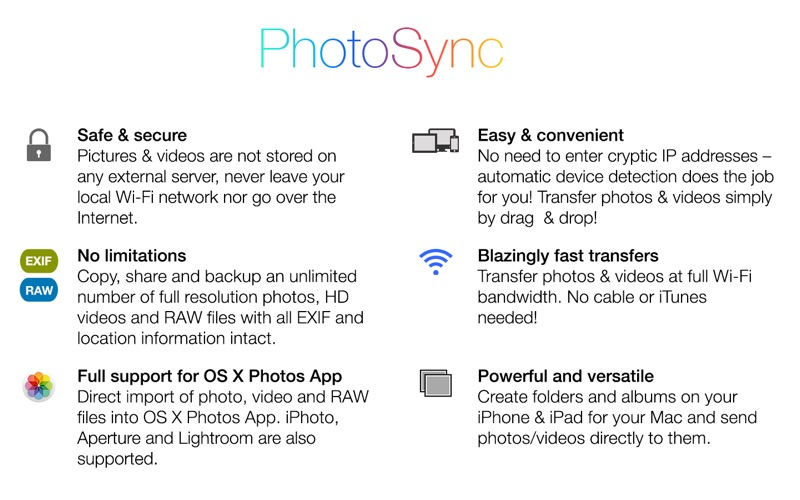 PhotoSync Screenshot