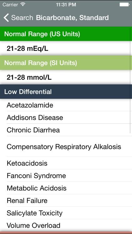 Normal Lab Values++ Pro screenshot-4