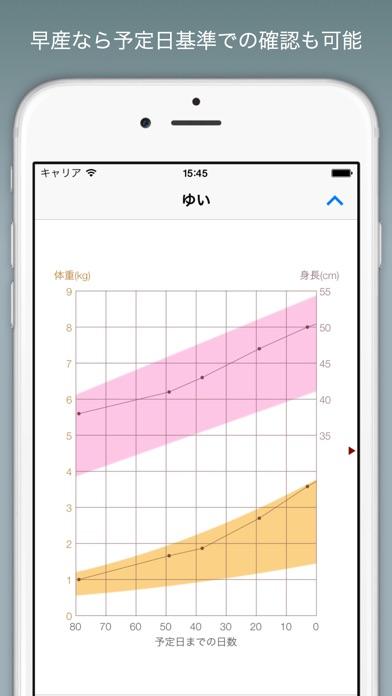 赤ちゃんの成長グラフ Lite screenshot1