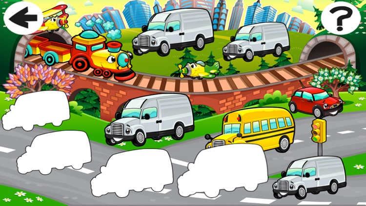 A Sort By Size Game of Cars and Vehicles for Children screenshot-4