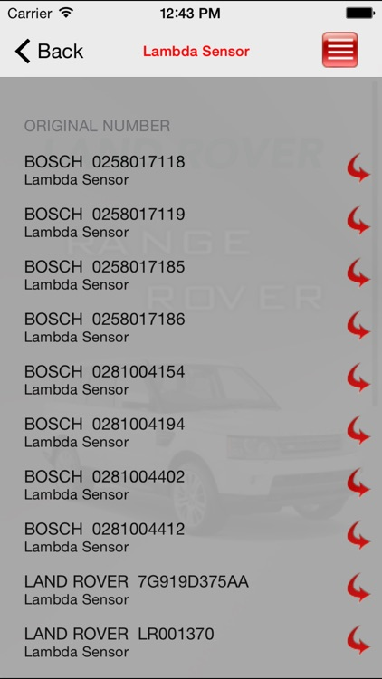 Autoparts Land Rover Range Rover screenshot-0