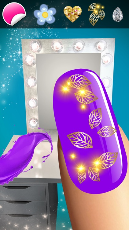 Manicure in Stylish Salon – Acrylic Nail Polish with Fancy Glow and Neon Design for Glamorous Girls screenshot-4