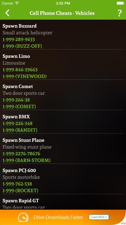 Cheats for GTA 5 - Unofficial GTA Cheater screenshot-3