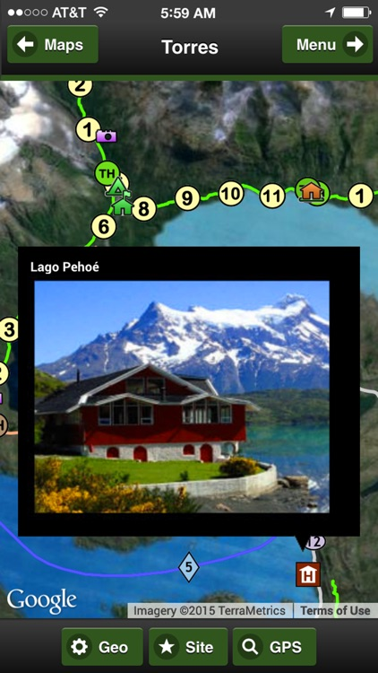 Torres del Paine Park Map screenshot-2