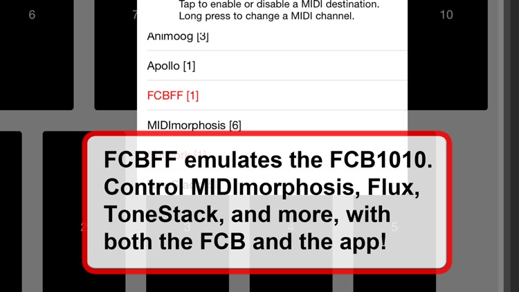 FCBFF -- your Guitar MIDI Foot Controller's Best Friend Forever screenshot-2