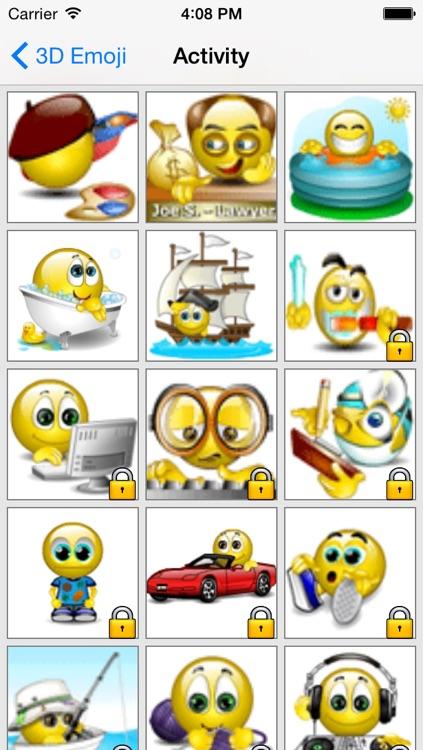 Animated 3D Emoji Free : Emoticons Share to social screenshot-3