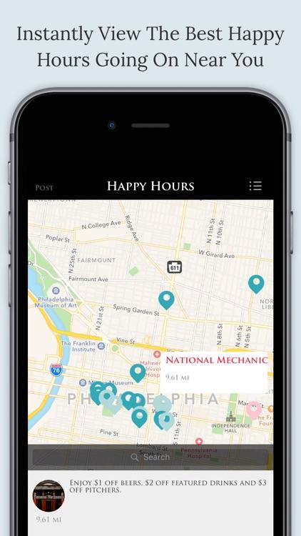 Drinkers - Happy hours, Hottest bars, Near you screenshot-3
