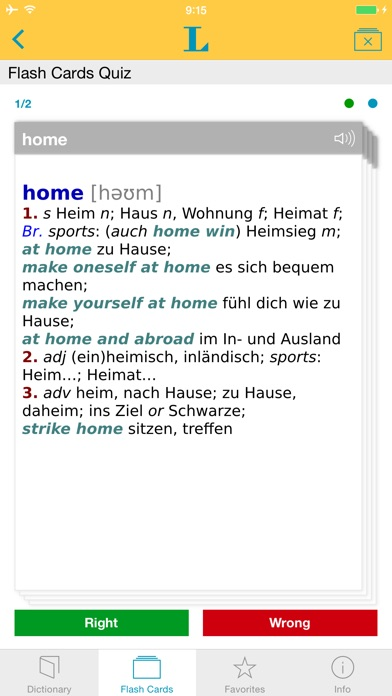 German <-> English Talking Dictionary Basic Screenshot on iOS