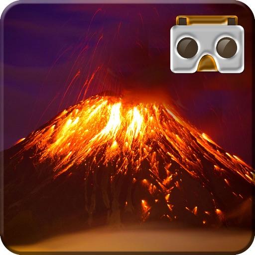 VR Drive through Live Volcano Lava 3D