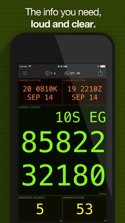 MilGPS - MGRS & USNG Grid GPS for Land Navigation app image