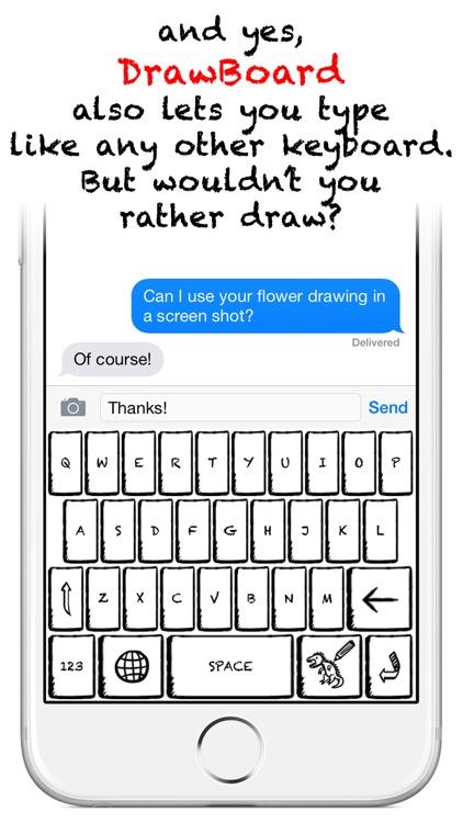 DrawBoard - Keyboard for Doodling! screenshot-3