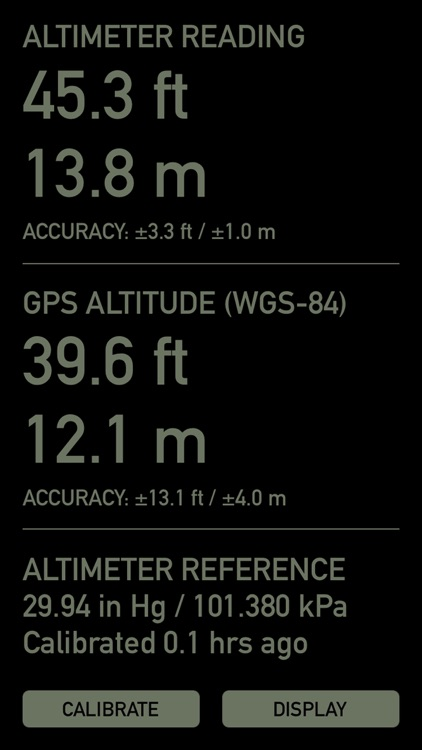 Pro Altimeter - Barometric Altimeter with Manual/GPS/METAR Calibration