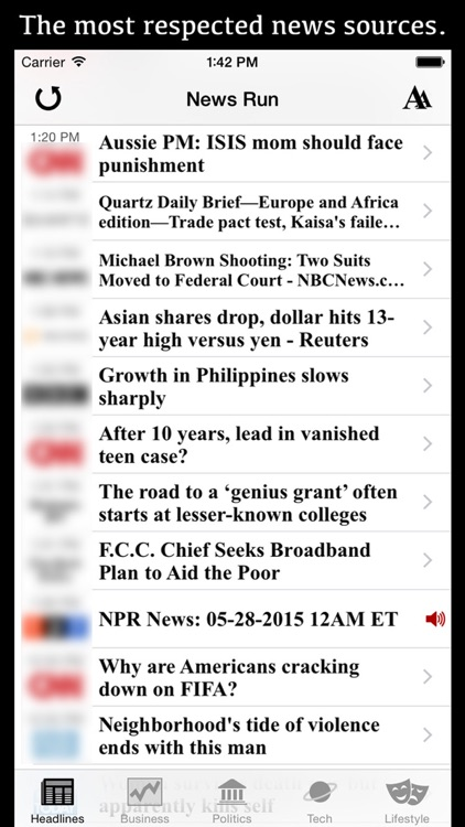 Daily Planet One: Please download our updated app, 'News Run' instead.