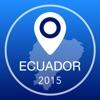 エクアドルオフライン地図+シティガイドナビゲーター、観光名所と転送