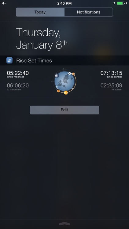 Raise and Set Times - Moonrise, moonset, sunrise, sunset times and compass screenshot-4