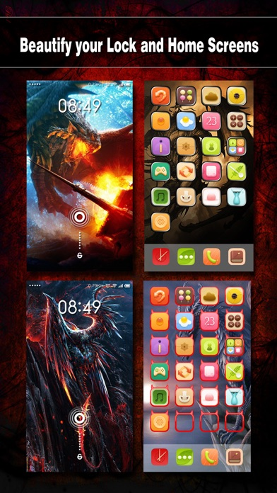 Dragon Wallpapers, Backgrounds & Themes - Home Screen Maker with Cool HD Dragon Pics for iOS 8 & iPhone 6のおすすめ画像2