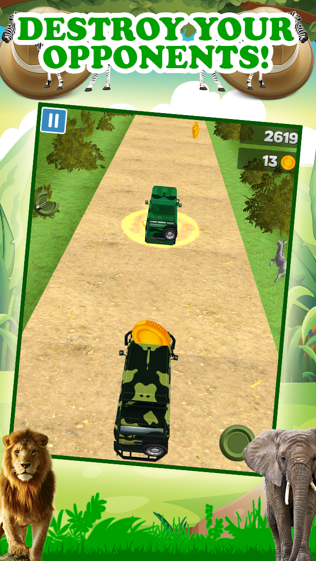 エンドレスリアルアドベンチャーシミュレータードライビング無料で3Dサファリジープレーシングゲームのおすすめ画像3
