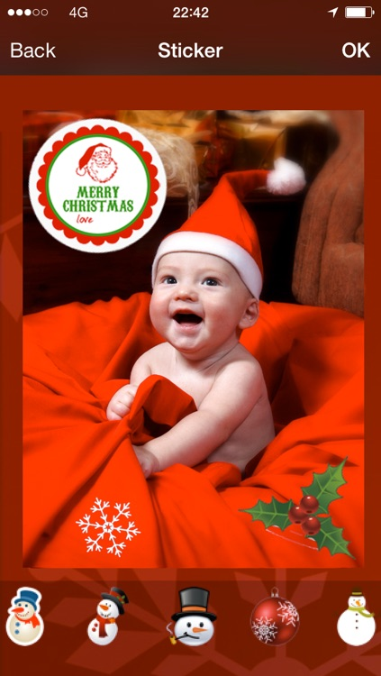 Christmas card : photo, sticker and greeting card screenshot-3