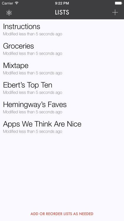 Ita — A List-Making App