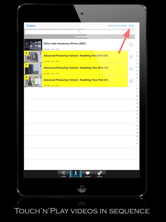 V-Downloader+ HD - Download & Play Online Videos screenshot-3