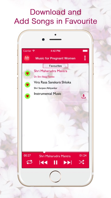Music for Pregnant Women - Free Downloadable Mantras and Shlokas and Listen Offline Screenshot on iOS