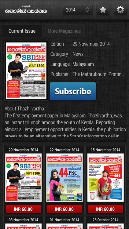 Mathrubhumi Thozhil Vartha magazine 2015