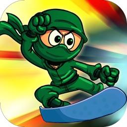 Super ninja snowboard 2016 : new free Snowboarding running & jumping game For Family Adult's & Boy's & Girl's & Kid's ninja Challenge