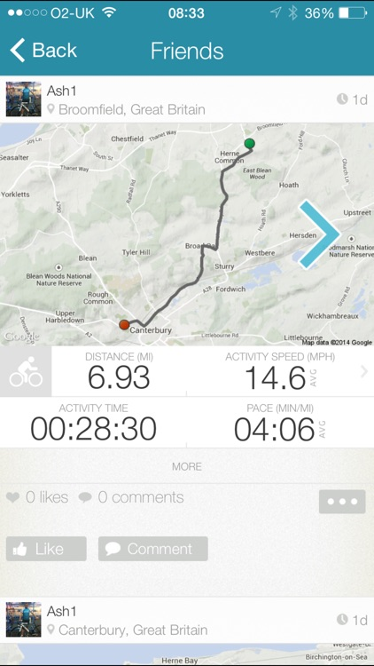 Map My Tracks Walking - GPS walking and hiking screenshot-3