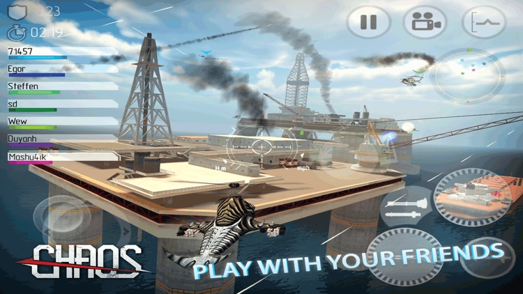 CHAOS - Multiplayer Helicopter Simulator 3D screenshot-3