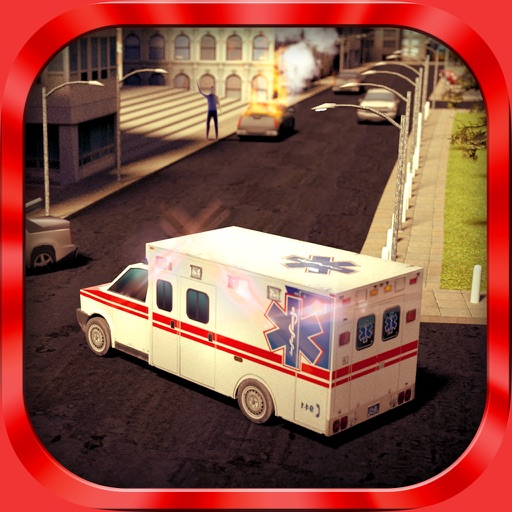 Ambulance Simulator 3D - Patients emergency rescue and hospital delivery sim - Test real car driving, parking and racing skills icon