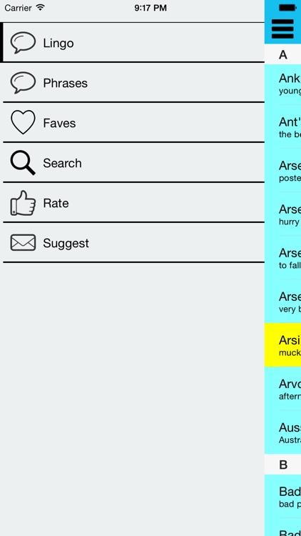 Aussie Lingo Audio Companion - (Australian Slang Dictionary with Audio Examples) screenshot-4