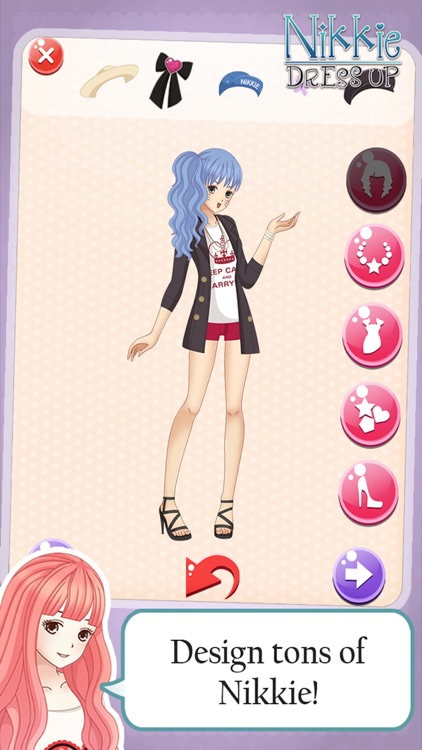 Dress-up nikki kawaii little girls : Top Line Play Pinkie Dressing story beauty salon anime games screenshot-3
