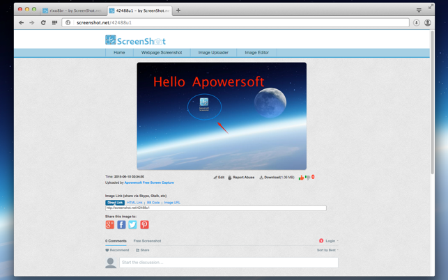Apowersoft screenshot capture screen easily on the mac app store ccuart Gallery