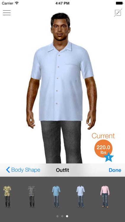 Model My Diet - Men - Weight Loss Motivation with Virtual Model Simulation screenshot-4
